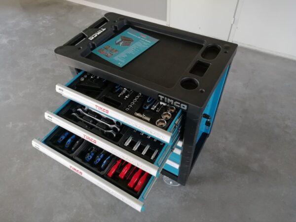 Tmco työkaluvaunu työkaluilla 6l laatikkoa ja 220 osaa