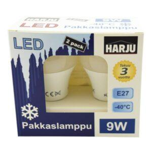 Electrogear pakkaslamppu 9 W E27 -40°C 806 lm 4000K 2 kplpkt