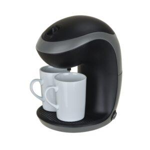 Kahvinkeitin 2 kuppia Livia musta LCM202