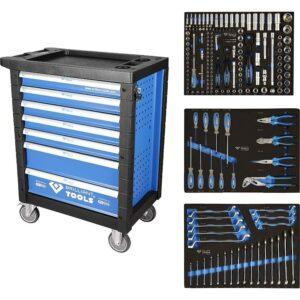 Brilliant Tools Työkaluvaunu 207 työkalulla, 7 laatikkoa, ikitakuu