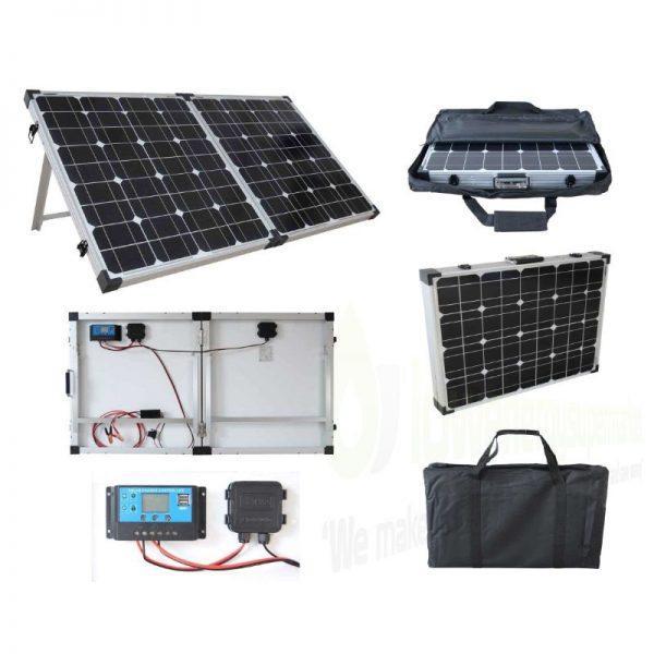 Brightsolar 80W kannettava ja taitettava aurinkopaneeli, sis säätimen