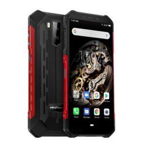 Ulefone Armor X5 iskun- ja vedenkestävä älypuhelin musta punainen