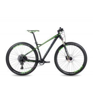"HEAD X Rubi IV 29"" -miesten maastopyörä, mattamusta/vihreä, 48cm/19"""