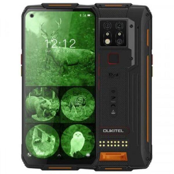 Oukitel WP7 Iskun- ja vedenkestävä älypuhelin, musta oranssi