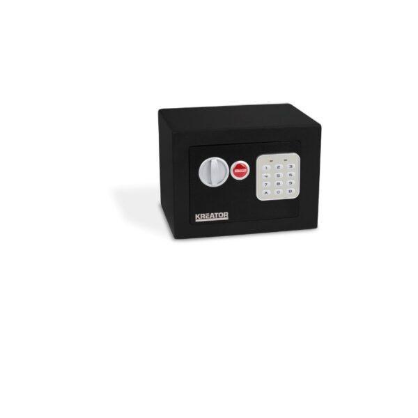 Kreator elektroninen mini kassakaappi 170x230x170 musta