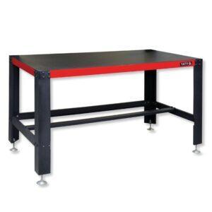 Teräsrunkoinen työpöytä, 150 x 78 x 83 cm, korkeudensäätö, Yato