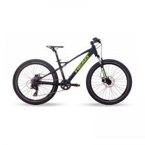 """Head Ridott III - lasten maastopyörä 24"""", 8-v, mattamusta/vihreä"""