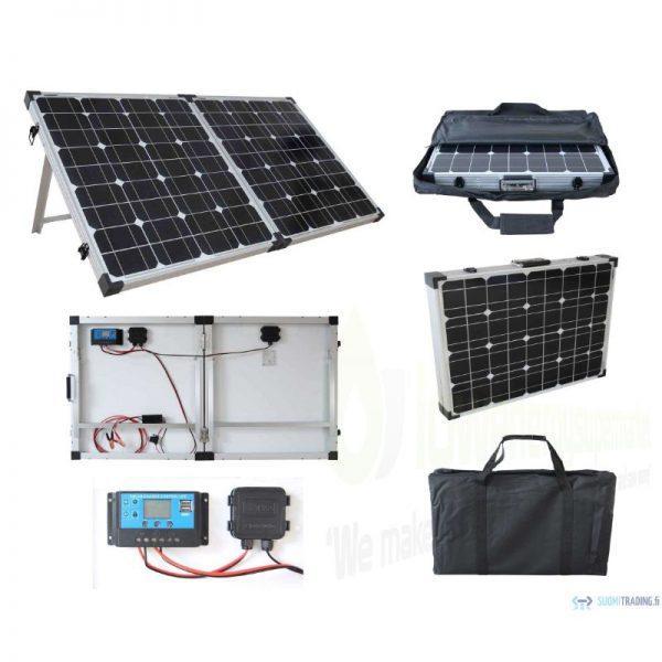 Brightsolar 160W kannettava ja taitettava aurinkopaneeli, sis säätimen