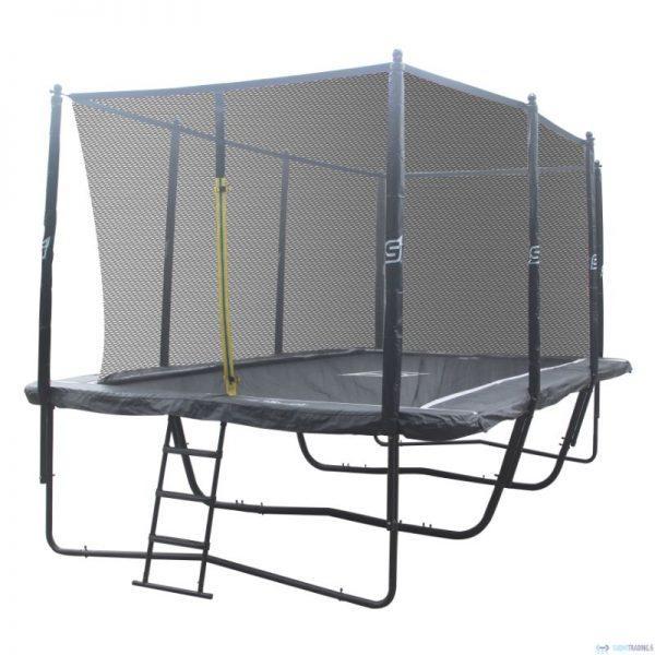 iSport Air Black 5,8 x 4 m 144 jousta trampoliini turvaverkolla