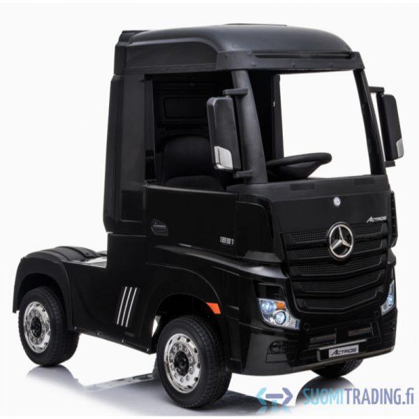 Mercedes Benz Actros - lasten rekka sähköauto, musta