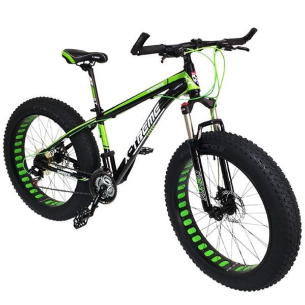 "Fatbike X-Treme Iron, 26 x 4"", musta vihreä"