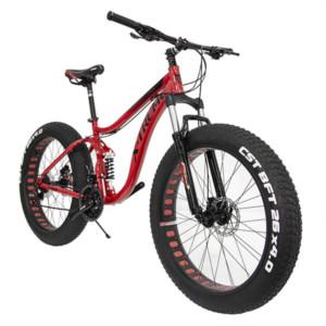 "Fatbike X-Treme Titan täysjousitettu 26 x 4"", punainen"